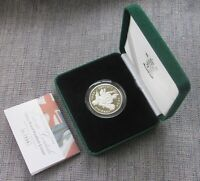 2004 SILVER PROOF PIEDFORT 5  FIVE POUND  COIN BOXED & CASED