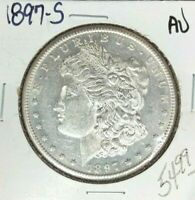 1897-S MORGAN SILVER DOLLAR  AU  COIN