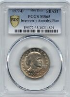 1979 D  $1 SBA IMPROPERLY ANNEALED PCGS MS 65