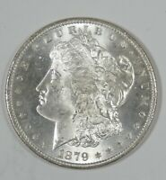 1879-S MORGAN SILVER DOLLAR CHOICE BRILLIANT UNCIRCULATED ORIGINAL REV TONE