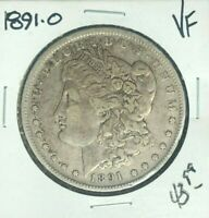 1891-O MORGAN SILVER DOLLAR  VF  COIN