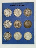 UNITED STATES MINT MORGAN DOLLAR 90 SILVER COINS [9] - 1882, 1885, 1889, 1890