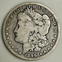UNITED STATES MINT MORGAN DOLLAR 90 SILVER COIN - 1896