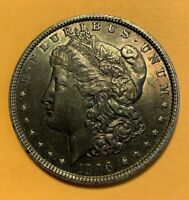 1896 P MORGAN DOLLAR. BRILLIANTLY TONED LOTS OF LUSTER,  GORGEOUS COIN
