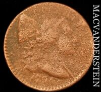 1794  HEAD OF 94  FLOWING HAIR LARGE CENT  SCARCE  BETTER DA