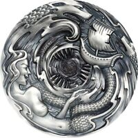 SCYLLA AND CHARYBDIS EVIL WITHIN 3 OZ ANTIQUE FINISH SILVER