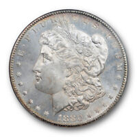 1880 CC $1 MORGAN DOLLAR PCGS MINT STATE 64 PL UNCIRCULATED PROOF LIKE CARSON CITY MINT