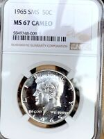 1965 SILVER KENNEDY NGC SMS 67 CAMEO   TOP QUALITY & RARE