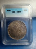 1883 , MORGAN DOLLAR , MINT STATE 65 , ICG CERTIFIED