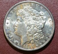 1887-S VAM-2 S/S  S OVER S MORGAN SILVER DOLLAR TOP 100 ABOUT UNCIRCULATED