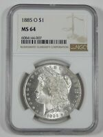 1885-O MORGAN SILVER DOLLAR CERTIFIED NGC MINT STATE 64
