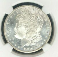 1880-S MORGAN SILVER DOLLAR - NGC MINT STATE 66  BEAUTIFUL COIN REF27-002
