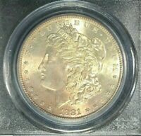 1881-S MORGAN SILVER DOLLAR - PCGS MINT STATE 65  BEAUTIFUL COIN REF0159
