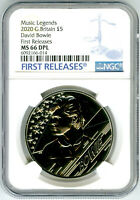 2020 GREAT BRITAIN 5PND DAVID BOWIE NGC MS66 DPL FIRST RELEA