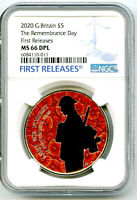 2020 GREAT BRITAIN 5PND REMEMBRANCE DAY WARRIOR POPPY NGC MS