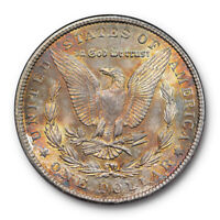 1904 $1 MORGAN DOLLAR NGC MINT STATE 63 UNCIRCULATED OLD FATTY HOLDER TONED