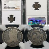 1831 CAPPED BUST HALF DIME 1/2 10C NGC G-6 KVE INVESTMENTS, LLC