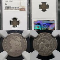 1832 CAPPED BUST HALF DIME 1/2 10C NGC G-6 KVE INVESTMENTS, LLC