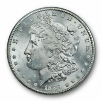 1889 S $1 MORGAN DOLLAR ANACS MINT STATE 63 UNCIRCULATED BLAST WHITE LUSTROUS