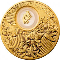 GOLDFISH LUCKY COINS III PROOF SILVER COIN 2$ NIUE 2014
