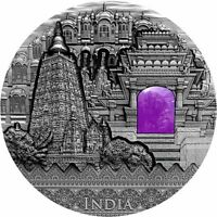 INDIA IMPERIAL ART 2 OZ ANTIQUE FINISH SILVER COIN 2$ NIUE 2
