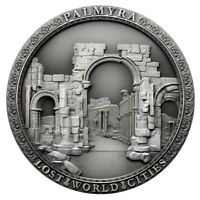PALMYRA LOST WORLD CITIES 2 OZ ANTIQUE FINISH SILVER COIN 2$