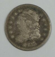 1835 CAPPED BUST SILVER HALF DIME GOOD 5-CENTS