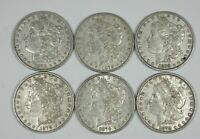 LOT X 6 1878 7-TAIL FEATHER REV OF 1879 MORGAN SILVER DOLLARS EXTRA FINE  OR BETTER