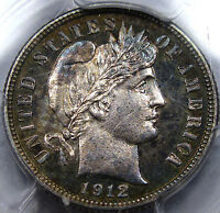 1912 PROOF BARBER DIME  PCGS CHOICE PR-63 AWESOME PQ COIN WITH  TONING