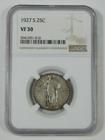 1927-S STANDING LIBERTY QUARTER CERTIFIED NGC VF 30 SILVER 25C