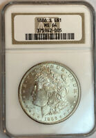 1886-S MORGAN SILVER DOLLAR NGC MINT STATE 64