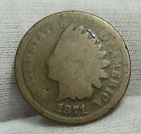 KEY-DATE 1871 INDIAN HEAD PENNY CENT.   110