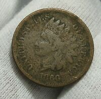 KEY-DATE 1866 INDIAN HEAD PENNY CENT.   111