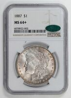 MORGAN SILVER DOLLAR 1887 P NGC MINT STATE 64  CAC
