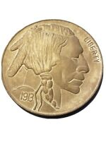 BETTER - 1913 INDIAN HEAD BUFFALO NICKEL 3 INCHES PAPER WEIGHT