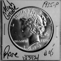 1935 PEACE SILVER DOLLAR HIGH GRADE KEY DATE  US COIN SHIPS FREE 123924
