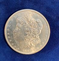 U.S.  1882-S  MORGAN SILVER DOLLAR BRILLIANT UNCIRCULATED AND PL, PROOFLIKE