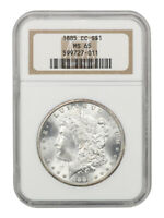1885-CC $1 NGC MINT STATE 65 - MORGAN SILVER DOLLAR - BETTER CARSON CITY ISSUE