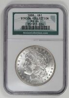 MORGAN SILVER DOLLAR 1888 P NGC MINT STATE 64   BINION COLLECTION