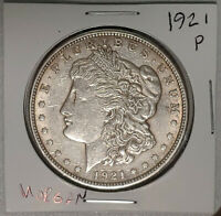 1921-P $1 MORGAN SILVER DOLLAR US CURRENCY PHILADELPHIA MINT COIN 40921A