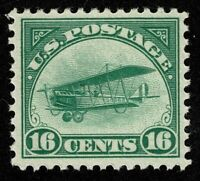 SCOTTC2 16C BACK OF BOOK AIR MAIL 1918 MINT LH OG WELL CENTE