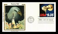 DR JIM STAMPS US EXPRESS MAIL EAGLE MOON COLORANO SILK FDC C