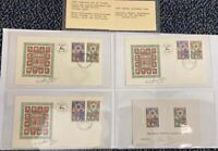 1950 SET OF SIGNED ISRAEL 1ST DAY COVERS