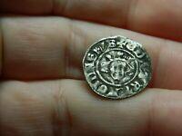 UN RESEARCHED MEDIEVAL HAMMERED SILVER LONG CROSS COIN METAL