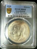 PCGS MS64 GOLD SHIELD GREAT BRITAIN 1935 GEORGE V SILVER ONE