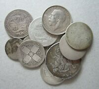 BRITISH SCRAP STERLING SILVER COINS 4.44 OUNCES