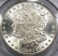 1881-CC MORGAN SILVER DOLLAR PCGS MINT STATE 64OLD PCGS HOLDER,