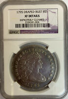 1795 DRAPED BUST DOLLAR NGC EXTRA FINE  DETAILS, CLEANED