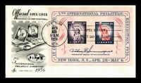 DR JIM STAMPS US FIPEX EVENT SOUVENIR SHEET FIRST DAY COVER