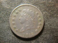 1812 VF EXTRA FINE  SMALL DATE CLASSIC HEAD LARGE CENT  FLAN  AZX
